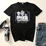 abordables -Inspiré par Le pays imaginaire EMMA Costume de Cosplay Manches Ajustées Microfibre Imprimés Photos Imprimé Tee-shirt Pour Femme / Homme