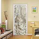 economico -2 pezzi adesivi per porte creativi autoadesivi scultura europea bellezza soggiorno decorazione fai da te adesivi murali impermeabili per la casa