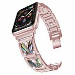 economico -Cinturino intelligente per Apple  iWatch 1 pcs Stile dei gioielli Acciaio inossidabile Sostituzione Custodia con cinturino a strappo per Apple Watch Serie SE / 6/5/4/3/2/1
