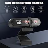 economico -webcam per videoconferenza Videocamera web 2k per pc con riconoscimento facciale videocamera HD con messa a fuoco automatica a doppia lente per trasmissione dal vivo del computer
