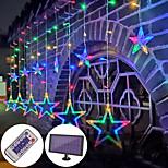 abordables -extérieur led rideau guirlande lumineuse solaire alimenté étanche 3.5m décoration de fée étoile atmosphère éclairage pour mariage jardin patio cour décor lampe colorée avec télécommande