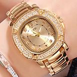 economico -orologio da donna in oro con diamanti, orologio quadrato con strass di lusso