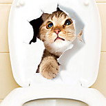economico -adesivi per WC con dinosauro del fumetto - adesivi murali animali animali bagno 23x25cm