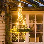 economico -Luci solari a stringa 20m 200 led 1 set staffa di montaggio festa della mamma san valentino matrimonio natale patio lampada solare decorativa bianco caldo