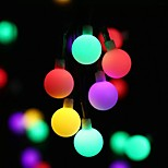 abordables -guirlandes solaires led ampoule mat blanc chaud coloré blanc 8 mode extérieur étanche 7m 50leds guirlandes de noël décoration de vacances de mariage lumières