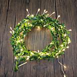 abordables -LED pétard guirlande lumineuse 2 m 5 m fil de cuivre feuille fée guirlande lumineuse opération de la batterie pour mariage fête de noël vacances jardin décoration de la maison