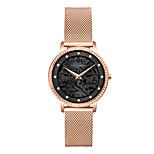 economico -hanna martin signore diamante semplice movimento giapponese orologio impermeabile casual incisione fiore orologio al quarzo