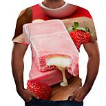 abordables -Homme T-shirt Chemise 3D effet 3D Rivet Maille Manches Courtes Décontracté Hauts Blanche Bleu Rouge / Eté