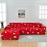 economico -fodera per divano a forma di l elasticizzata, resistente alla polvere rossa natalizia, protezione per mobili per divano in tessuto super morbido con una custodia per boster gratuita