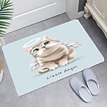 economico -tappetino da bagno moderno con stampa digitale gattino angelo tappetino da bagno moderno bagno non tessuto / schiuma di memoria