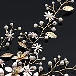 abordables -Vente directe d'usine couvre-chef de mariée vente chaude feuille perle strass fleur bandeau photo studio robe accessoires de mariage