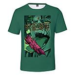 abordables -Inspiré par Jujutsu Kaisen Yuji Itadori Costume de Cosplay Manches Ajustées Térylène 3D Imprimé Tee-shirt Pour Femme / Homme