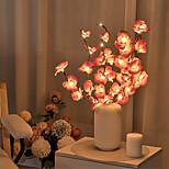 abordables -LED phalaenopsis branche lampe 20 ampoules simulation orchidée branche led guirlande lumineuse saule brindille lumière branche fête des mères pour la maison jardin décoration