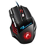 economico -mouse del computer gamer mouse da gioco ergonomico usb gioco cablato mause 5500 dpi mouse silenziosi con retroilluminazione a led 7 pulsanti per pc laptop