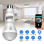 economico -hd wifi camera panorama vr telecamera panoramica universale a 360 gradi con lampadina v380 monitor di rete wifi wireless