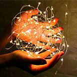 economico -5m 10m 20m Fili luminosi Controlli remoti 50/100/200 LED 1 pc Bianco caldo Bianco San Valentino Capodanno Impermeabile All'aperto Feste Batterie alimentate
