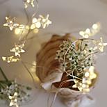 economico -led stringa di luce 5 m 2 m stella filo di rame 20 50 led fata vacanza flessibile striscia di luce per natale matrimonio decorazione della casa illuminazione aa alimentazione a batteria