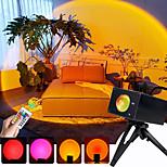economico -Luce del proiettore Lampada al tramonto Controllato da remoto Colori dimmerabili Feste Palco Al coperto Colori primari