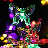 economico -luci stringa led set staffa di montaggio 20leds 30leds farfalle 50leds bianco caldo bianco freddo multicolore giorno del ringraziamento festa di natale decorativa 5m 6.5m 7m