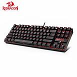 economico -tastiera da gioco meccanica redragon k552 kumara 87 tasti tastiera gamer retroilluminata rossa