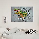 economico -simulazione 3d muro rotto dinosauro camera dei bambini decorazione sfondo casa può essere rimosso adesivi