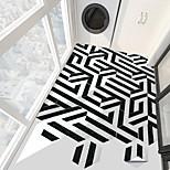 economico -creativo marmo bianco e nero esagono pavimento antiscivolo adesivo in pvc cucina bagno pavimento impermeabile autoadesivo adesivo da parete rimovibile