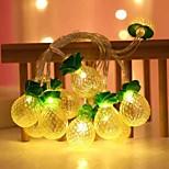 abordables -guirlande lumineuse d'ananas led fonctionnement batterie ou usb 1.5m 10leds 3m 20leds ananas forme de fruit guirlande lumineuse fête de vacances chambre d'enfant décoration de la maison