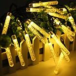 abordables -glaçon de bulle solaire guirlandes led 30 leds 50 leds extérieur étanche 6.5m 7m guirlande lumineuse fée blanc chaud blanc coloré 8 modes noël fête de vacances de mariage lampe de décoration de patio