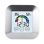 economico -TS-S63 Portatile / Multi-funzione Igrometri Misurazione della temperatura e dell'umidità, Orologio Sveglia, Display LCD retroilluminato