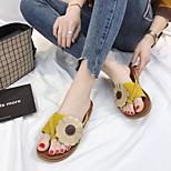 economico -pantofole donna estate 2018 nuova moda usura esterna morbida sorella fiore sandali sandali da spiaggia studente piatto pantofole rosse da traino