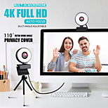 economico -webcam 4k mini web camera per computer laptop con microfono ad anello luce video webcam 1080p 2k trasmissione in diretta messa a fuoco automatica web cam