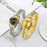 economico -orologio da donna in oro con cinturino in acciaio inossidabile di tendenza