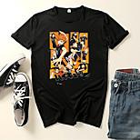 abordables -Inspiré par Haikyuu Karasuno High Costume de Cosplay Manches Ajustées Microfibre Imprimés Photos Imprimé Tee-shirt Pour Femme / Homme
