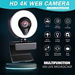 economico -webcam con microfono messa a fuoco automatica 3 gradi di luce ad anello abbellisci l'illuminazione video webcam 1080p per la trasmissione in diretta web cam versione 4k