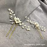 abordables -Fourniture directe d'usine de bijoux de mariée tissés à la main perle cristal épingle à cheveux épingle à cheveux cross-border vente chaude accessoires de cheveux