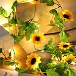 economico -girasole artificiale led stringa luce edera vite 2.2 m 20 led per la casa festa di nozze camera da letto decor lampada fai da te illuminazione a sospensione 2 pz 1 pz