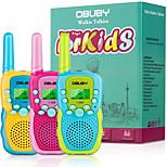 abordables -talkies-walkies pour enfants de 3 à 12 ans, 22 canaux radio bidirectionnelle cadeaux jouets avec lampe de poche LCD rétroéclairée 3 kms, jouets cadeaux pour 3 ans et plus garçon et filles à
