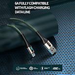 economico -SENDEM Micro USB USB C Cavi Intrecciato Carica rapida Trasmissione dati 6 A 1.0m (3 piedi) Nylon Per Xiaomi MI Samsung Xiaomi Appendini per cellulare