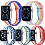 economico -Cinturino intelligente per Apple  iWatch 1 pcs Bracciale stampato Silicone Sostituzione Custodia con cinturino a strappo per Apple Watch Serie SE / 6/5/4/3/2/1