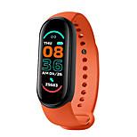 economico -696 M6 Unisex Braccialetti intelligenti Bluetooth Monitoraggio frequenza cardiaca Misurazione della pressione sanguigna Sportivo Calorie bruciate Controllo fotocamera Cronometro Monitoraggio del