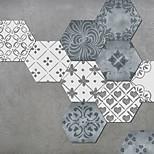 economico -Creativo stile marocchino piastrella esagonale pavimento antiscivolo adesivo in pvc cucina bagno pavimento impermeabile autoadesivo fai da te adesivo da parete rimovibile