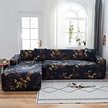 economico -fodera per divano a forma di l elasticizzata, resistente alla polvere, floreale blu scuro di lusso, protezione per mobili per divano in tessuto super morbido con una custodia per boster gratuita