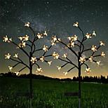 economico -lampada da esterno a led solare a energia solare ciliegia 1x 2x ip65 20 led fata luce natalizia per giardino strada cortile prato colorato decorazione illuminazione lampada ghirlanda festa all'aperto