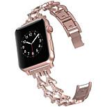 economico -Cinturino intelligente per Apple  iWatch 1 pcs Stile dei gioielli Lega di zinco Sostituzione Custodia con cinturino a strappo per Apple Watch Serie SE / 6/5/4/3/2/1
