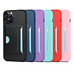 economico -telefono Custodia Per Apple Per retro iPhone 12 Pro Max 11 SE 2020 X XR XS Max 8 7 Porta-carte di credito Resistente agli urti Tinta unita Fibra di carbonio