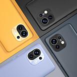 economico -telefono Custodia Per Xiaomi Per retro Mi 11 Mi 11 Pro Mi 11 Ultra Redmi K40 / K40 Pro Resistente agli urti A prova di sporco Tinta unita pelle sintetica TPU