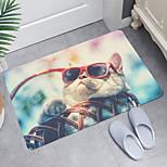 economico -tappetino da bagno moderno con stampa digitale gattino prepotente tappetini da bagno in tessuto non tessuto / memory foam novità bagno