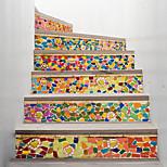 economico -adesivo creativo 3d scala in vetro colorato fai da te decorazione casa adesivo adesivo da parete impermeabile