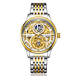 economico -orologio da uomo laogeshi moda luminoso orologio meccanico da uomo impermeabile