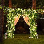 economico -2m seta artificiale foglia di edera vite luci stringa led per la casa di nozze festa di natale appeso ghirlanda flessibile vacanza stringa aa batteria alimentazione illuminazione bianca calda